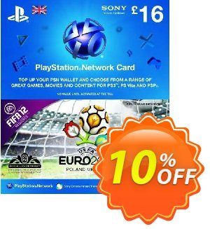 Playstation Network Card - £16 - Euro 2012 Branded Coupon, discount Playstation Network Card - £16 - Euro 2012 Branded Deal. Promotion: Playstation Network Card - £16 - Euro 2012 Branded Exclusive Easter Sale offer for iVoicesoft