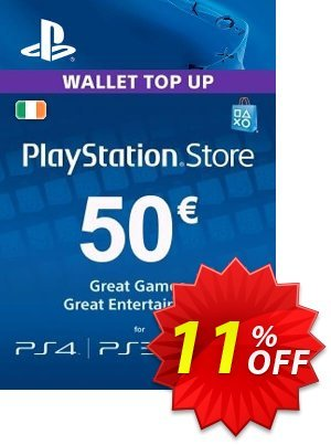 PlayStation Network (PSN) Card - 50 EUR (Ireland) Coupon discount PlayStation Network (PSN) Card - 50 EUR (Ireland) Deal. Promotion: PlayStation Network (PSN) Card - 50 EUR (Ireland) Exclusive Easter Sale offer for iVoicesoft