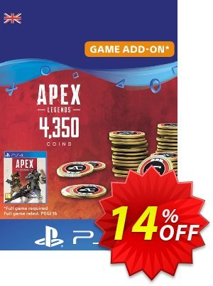 Apex Legends 4350 Coins PS4 (UK) Coupon discount Apex Legends 4350 Coins PS4 (UK) Deal. Promotion: Apex Legends 4350 Coins PS4 (UK) Exclusive Easter Sale offer for iVoicesoft