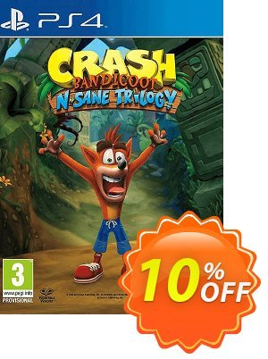 Crash Bandicoot N. Sane Trilogy PS4 Coupon, discount Crash Bandicoot N. Sane Trilogy PS4 Deal. Promotion: Crash Bandicoot N. Sane Trilogy PS4 Exclusive Easter Sale offer for iVoicesoft