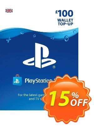 Playstation Network (PSN) Card - £100 Coupon, discount Playstation Network (PSN) Card - £100 Deal. Promotion: Playstation Network (PSN) Card - £100 Exclusive Easter Sale offer for iVoicesoft