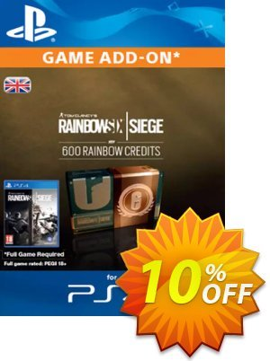 Tom Clancy's Rainbow Six Siege 600 Credits Pack (UK) Coupon discount Tom Clancy's Rainbow Six Siege 600 Credits Pack (UK) Deal. Promotion: Tom Clancy's Rainbow Six Siege 600 Credits Pack (UK) Exclusive Easter Sale offer for iVoicesoft