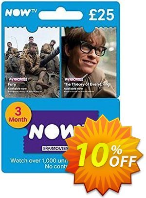 NOW TV - Movies 3 Month Pass discount coupon NOW TV - Movies 3 Month Pass Deal - NOW TV - Movies 3 Month Pass Exclusive Easter Sale offer for iVoicesoft