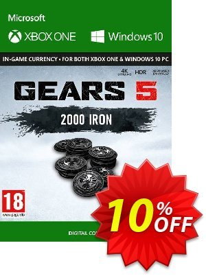 Gears 5: 2000 Iron + 250 Bonus Iron Xbox One Coupon, discount Gears 5: 2000 Iron + 250 Bonus Iron Xbox One Deal. Promotion: Gears 5: 2000 Iron + 250 Bonus Iron Xbox One Exclusive Easter Sale offer for iVoicesoft