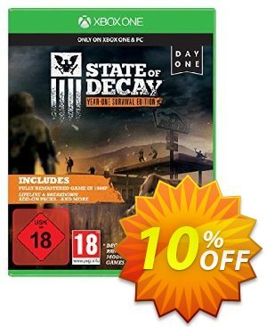 State of Decay: Year-One Survival Edition Xbox One - Digital Code Coupon discount State of Decay: Year-One Survival Edition Xbox One - Digital Code Deal. Promotion: State of Decay: Year-One Survival Edition Xbox One - Digital Code Exclusive Easter Sale offer for iVoicesoft