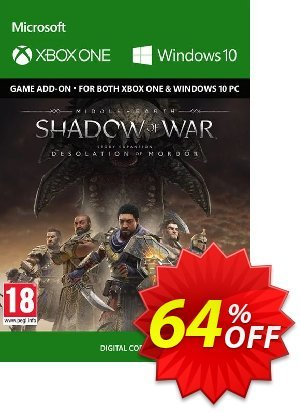 Middle-Earth Shadow of War - The Desolation of Mordor Expansion Xbox One/PC 프로모션 코드 Middle-Earth Shadow of War - The Desolation of Mordor Expansion Xbox One/PC Deal 프로모션: Middle-Earth Shadow of War - The Desolation of Mordor Expansion Xbox One/PC Exclusive Easter Sale offer for iVoicesoft