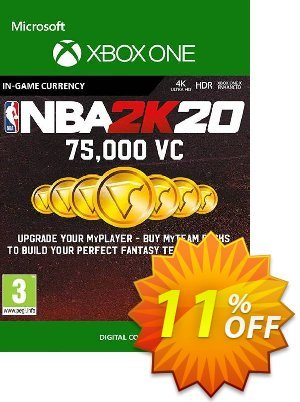 NBA 2K20: 75,000 VC Xbox One 優惠券,折扣碼 NBA 2K20: 75,000 VC Xbox One Deal,促銷代碼: NBA 2K20: 75,000 VC Xbox One Exclusive Easter Sale offer for iVoicesoft