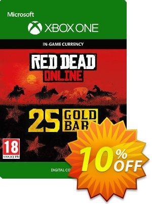 Red Dead Online: 25 Gold Bars Xbox One 優惠券,折扣碼 Red Dead Online: 25 Gold Bars Xbox One Deal,促銷代碼: Red Dead Online: 25 Gold Bars Xbox One Exclusive Easter Sale offer for iVoicesoft