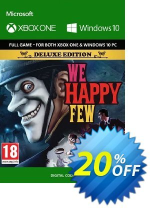 We Happy Few Deluxe Edition Xbox One / PC Coupon, discount We Happy Few Deluxe Edition Xbox One / PC Deal. Promotion: We Happy Few Deluxe Edition Xbox One / PC Exclusive Easter Sale offer for iVoicesoft