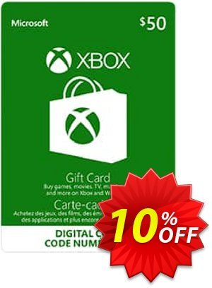 Microsoft Gift Card - CAD $50 (Xbox One/360) discount coupon Microsoft Gift Card - CAD $50 (Xbox One/360) Deal - Microsoft Gift Card - CAD $50 (Xbox One/360) Exclusive Easter Sale offer for iVoicesoft