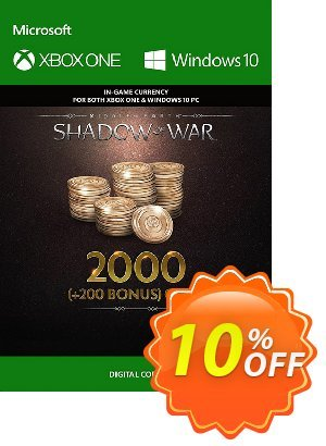 Middle-Earth: Shadow of War - 2200 Gold Xbox One discount coupon Middle-Earth: Shadow of War - 2200 Gold Xbox One Deal - Middle-Earth: Shadow of War - 2200 Gold Xbox One Exclusive Easter Sale offer for iVoicesoft