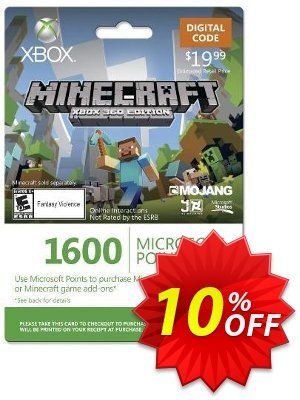 Xbox Live 1600 Microsoft Points for Minecraft: Xbox 360 Edition discount coupon Xbox Live 1600 Microsoft Points for Minecraft: Xbox 360 Edition Deal - Xbox Live 1600 Microsoft Points for Minecraft: Xbox 360 Edition Exclusive Easter Sale offer for iVoicesoft