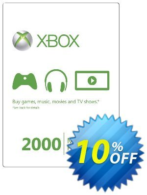 Xbox Live 2000 Microsoft Points (Xbox 360) discount coupon Xbox Live 2000 Microsoft Points (Xbox 360) Deal - Xbox Live 2000 Microsoft Points (Xbox 360) Exclusive Easter Sale offer for iVoicesoft