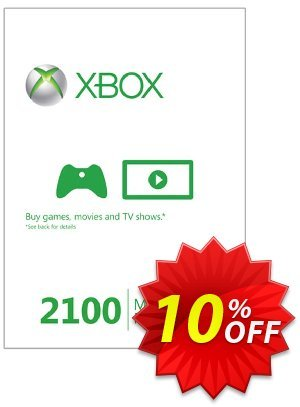Xbox Live 2100 Microsoft Points (Xbox 360) 優惠券,折扣碼 Xbox Live 2100 Microsoft Points (Xbox 360) Deal,促銷代碼: Xbox Live 2100 Microsoft Points (Xbox 360) Exclusive Easter Sale offer for iVoicesoft