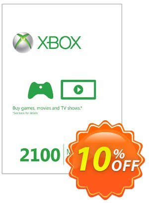 Xbox Live 2100 Microsoft Points (Xbox 360) Coupon discount Xbox Live 2100 Microsoft Points (Xbox 360) Deal. Promotion: Xbox Live 2100 Microsoft Points (Xbox 360) Exclusive Easter Sale offer for iVoicesoft