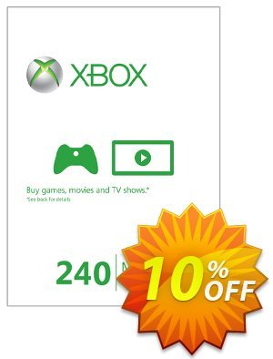 Xbox Live 240 Microsoft Points (Xbox 360) discount coupon Xbox Live 240 Microsoft Points (Xbox 360) Deal - Xbox Live 240 Microsoft Points (Xbox 360) Exclusive Easter Sale offer for iVoicesoft