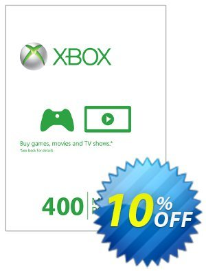 Xbox Live 400 Microsoft Points (Xbox 360) Coupon discount Xbox Live 400 Microsoft Points (Xbox 360) Deal. Promotion: Xbox Live 400 Microsoft Points (Xbox 360) Exclusive Easter Sale offer for iVoicesoft