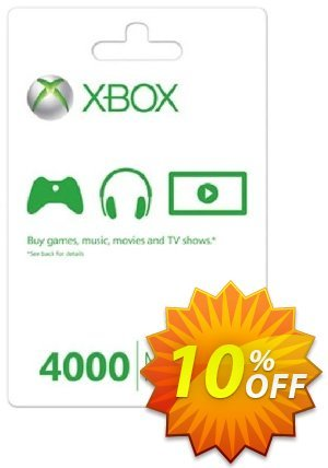 Xbox Live 4000 Microsoft Points (Xbox 360) 優惠券,折扣碼 Xbox Live 4000 Microsoft Points (Xbox 360) Deal,促銷代碼: Xbox Live 4000 Microsoft Points (Xbox 360) Exclusive Easter Sale offer for iVoicesoft