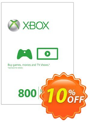 Xbox Live 800 Microsoft Points (Xbox 360) Coupon discount Xbox Live 800 Microsoft Points (Xbox 360) Deal. Promotion: Xbox Live 800 Microsoft Points (Xbox 360) Exclusive Easter Sale offer for iVoicesoft