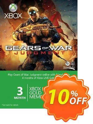 3 + 1 Month Xbox Live Gold Membership - GOW branded (Xbox One/360) discount coupon 3 + 1 Month Xbox Live Gold Membership - GOW branded (Xbox One/360) Deal - 3 + 1 Month Xbox Live Gold Membership - GOW branded (Xbox One/360) Exclusive Easter Sale offer for iVoicesoft