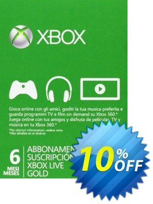 6 + 1 Month Xbox Live Gold Membership (Xbox One/360) Coupon discount 6 + 1 Month Xbox Live Gold Membership (Xbox One/360) Deal. Promotion: 6 + 1 Month Xbox Live Gold Membership (Xbox One/360) Exclusive Easter Sale offer for iVoicesoft