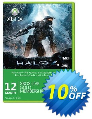 12 + 1 Month Xbox Live Gold Membership + Halo 4 Corbulo Emblem (Xbox One/360) Coupon, discount 12 + 1 Month Xbox Live Gold Membership + Halo 4 Corbulo Emblem (Xbox One/360) Deal. Promotion: 12 + 1 Month Xbox Live Gold Membership + Halo 4 Corbulo Emblem (Xbox One/360) Exclusive Easter Sale offer for iVoicesoft