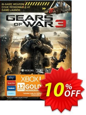 12 + 2 Month Xbox Live Gold Membership - Gears of War 3 Branded (Xbox One/360) offering sales