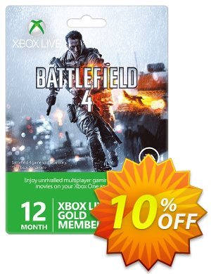 12 + 1 Month Xbox Live Gold Membership - Battlefield 4 Design (Xbox One/360) Coupon, discount 12 + 1 Month Xbox Live Gold Membership - Battlefield 4 Design (Xbox One/360) Deal. Promotion: 12 + 1 Month Xbox Live Gold Membership - Battlefield 4 Design (Xbox One/360) Exclusive Easter Sale offer for iVoicesoft