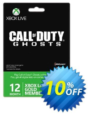 12 + 1 Month Xbox Live Gold Membership - Call of Duty Ghosts Branded (Xbox One/360) Coupon, discount 12 + 1 Month Xbox Live Gold Membership - Call of Duty Ghosts Branded (Xbox One/360) Deal. Promotion: 12 + 1 Month Xbox Live Gold Membership - Call of Duty Ghosts Branded (Xbox One/360) Exclusive Easter Sale offer for iVoicesoft