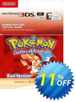 Pokemon Red Edition (Spain) 3DS discount coupon Pokemon Red Edition (Spain) 3DS Deal 2021 CDkeys - Pokemon Red Edition (Spain) 3DS Exclusive Sale offer for iVoicesoft