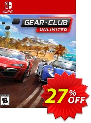 Gear Club Unlimited Switch (EU) Coupon, discount Gear Club Unlimited Switch (EU) Deal 2021 CDkeys. Promotion: Gear Club Unlimited Switch (EU) Exclusive Sale offer for iVoicesoft