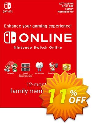 Nintendo Switch Online 12 Month (365 Day) Family Membership Switch (US) discount coupon Nintendo Switch Online 12 Month (365 Day) Family Membership Switch (US) Deal 2021 CDkeys - Nintendo Switch Online 12 Month (365 Day) Family Membership Switch (US) Exclusive Sale offer for iVoicesoft