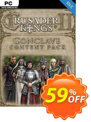 Crusader Kings II: Conclave PC - DLC discount coupon Crusader Kings II: Conclave PC - DLC Deal 2021 CDkeys - Crusader Kings II: Conclave PC - DLC Exclusive Sale offer for iVoicesoft