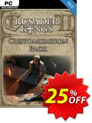 Crusader Kings II: Customization Pack PC - DLC discount coupon Crusader Kings II: Customization Pack PC - DLC Deal 2021 CDkeys - Crusader Kings II: Customization Pack PC - DLC Exclusive Sale offer for iVoicesoft