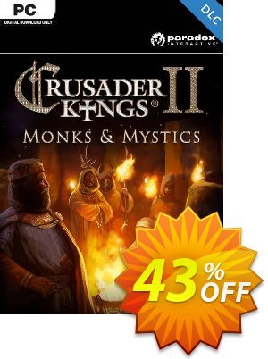 Crusader Kings II: Monks and Mystics PC - DLC discount coupon Crusader Kings II: Monks and Mystics PC - DLC Deal 2021 CDkeys - Crusader Kings II: Monks and Mystics PC - DLC Exclusive Sale offer for iVoicesoft