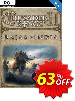 Crusader Kings II - Rajas of India PC - DLC discount coupon Crusader Kings II - Rajas of India PC - DLC Deal 2021 CDkeys - Crusader Kings II - Rajas of India PC - DLC Exclusive Sale offer for iVoicesoft