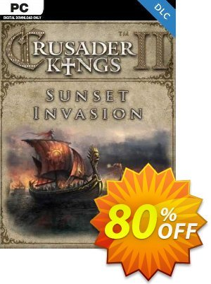 Crusader Kings II: Sunset Invasion PC - DLC discount coupon Crusader Kings II: Sunset Invasion PC - DLC Deal 2021 CDkeys - Crusader Kings II: Sunset Invasion PC - DLC Exclusive Sale offer for iVoicesoft