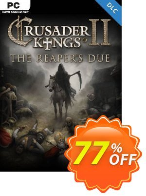 Crusader Kings II: The Reaper's Due PC - DLC discount coupon Crusader Kings II: The Reaper's Due PC - DLC Deal 2021 CDkeys - Crusader Kings II: The Reaper's Due PC - DLC Exclusive Sale offer for iVoicesoft