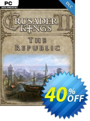 Crusader Kings II: The Republic PC - DLC discount coupon Crusader Kings II: The Republic PC - DLC Deal 2021 CDkeys - Crusader Kings II: The Republic PC - DLC Exclusive Sale offer for iVoicesoft
