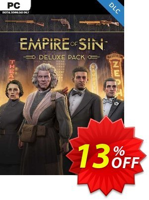 Empire of Sin Deluxe Pack PC - DLC 優惠券,折扣碼 Empire of Sin Deluxe Pack PC - DLC Deal 2021 CDkeys,促銷代碼: Empire of Sin Deluxe Pack PC - DLC Exclusive Sale offer for iVoicesoft