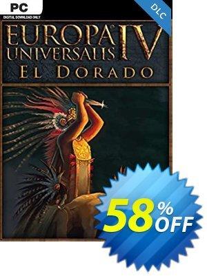 Europa Universalis IV - El Dorado PC - DLC discount coupon Europa Universalis IV - El Dorado PC - DLC Deal 2021 CDkeys - Europa Universalis IV - El Dorado PC - DLC Exclusive Sale offer for iVoicesoft