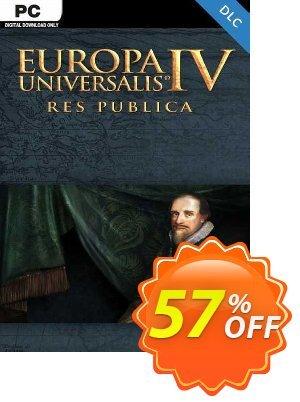 Europa Universalis IV: Res Publica PC - DLC discount coupon Europa Universalis IV: Res Publica PC - DLC Deal 2021 CDkeys - Europa Universalis IV: Res Publica PC - DLC Exclusive Sale offer for iVoicesoft