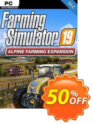 Farming Simulator 19 - Alpine Farming PC - DLC discount coupon Farming Simulator 19 - Alpine Farming PC - DLC Deal 2021 CDkeys - Farming Simulator 19 - Alpine Farming PC - DLC Exclusive Sale offer for iVoicesoft