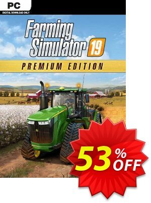 Farming Simulator 19 - Premium Edition PC discount coupon Farming Simulator 19 - Premium Edition PC Deal 2021 CDkeys - Farming Simulator 19 - Premium Edition PC Exclusive Sale offer for iVoicesoft