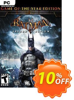 Batman Arkham Asylum Game of the Year Edition PC discount coupon Batman Arkham Asylum Game of the Year Edition PC Deal 2021 CDkeys - Batman Arkham Asylum Game of the Year Edition PC Exclusive Sale offer for iVoicesoft