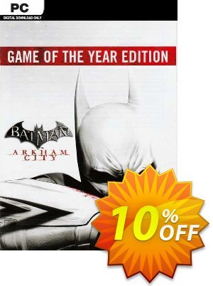 Batman Arkham City  Game of the Year Edition PC discount coupon Batman Arkham City  Game of the Year Edition PC Deal 2021 CDkeys - Batman Arkham City  Game of the Year Edition PC Exclusive Sale offer for iVoicesoft
