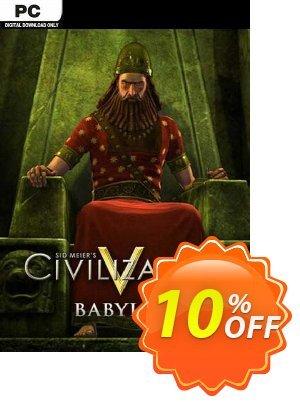 Civilization V  Babylon (Nebuchadnezzar II) PC discount coupon Civilization V  Babylon (Nebuchadnezzar II) PC Deal 2021 CDkeys - Civilization V  Babylon (Nebuchadnezzar II) PC Exclusive Sale offer for iVoicesoft