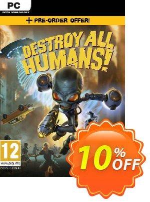 Destroy All Humans! PC + DLC discount coupon Destroy All Humans! PC + DLC Deal 2021 CDkeys - Destroy All Humans! PC + DLC Exclusive Sale offer for iVoicesoft