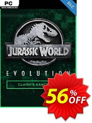 Jurassic World Evolution PC: Claire's Sanctuary DLC discount coupon Jurassic World Evolution PC: Claire's Sanctuary DLC Deal 2021 CDkeys - Jurassic World Evolution PC: Claire's Sanctuary DLC Exclusive Sale offer for iVoicesoft