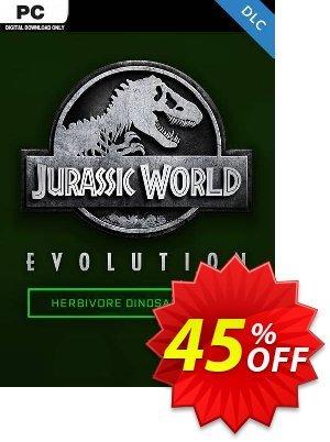 Jurassic World Evolution PC: Herbivore Dinosaur Pack DLC discount coupon Jurassic World Evolution PC: Herbivore Dinosaur Pack DLC Deal 2021 CDkeys - Jurassic World Evolution PC: Herbivore Dinosaur Pack DLC Exclusive Sale offer for iVoicesoft